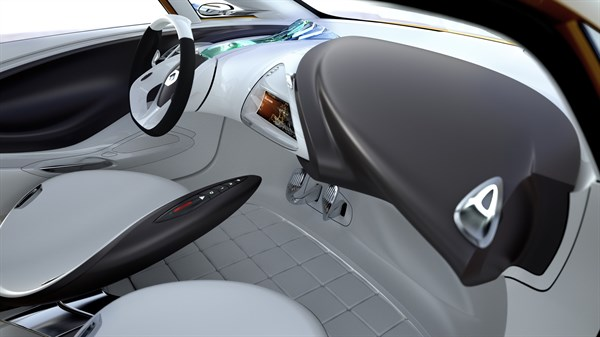 Renault R-Space concept car dashboard design